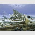 Caspar David Friedrich (1774–1840). Das Eismeer, 1823/24. Öl auf Leinwand, 96,7 x 126,9 cm. © Hamburger Kunsthalle / bpk. Foto: Elke Walford
