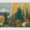 Franklin Carmichael. Autumn Hillside, 1920. Öl auf Leinwand, Schenkung der J.S. McLean Collection, Toronto, 1969; gestiftet von der Ontario Heritage Foundation, 1988. © Art Gallery of Ontario L69.16