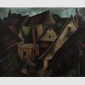 Theodor Werner Schwäbisches Dorf, 1927 Öl auf Leinwand 60 x 74 cm Kunstmuseum Stuttgart Foto: Frank Kleinbach, Stuttgart