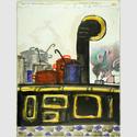 André François (1915–1968), Mr. Punch and the kitchen, Punch, Titel, um 1958/60, Wilhelm Busch – Deutsches Museum für Karikatur und Zeichenkunst
